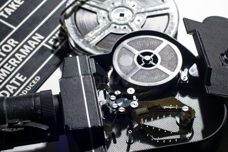 Cinepresa con il coperchio aperto immagine stock libera da diritti