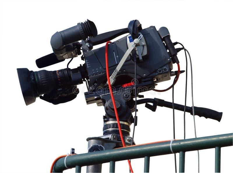 Cinepresa di televisione fotografie stock