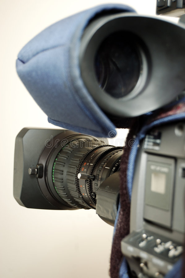 Cinepresa di televisione di radiodiffusione immagini stock