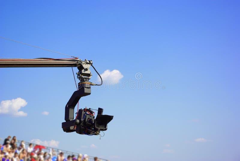 Cinepresa di televisione professionale immagine stock libera da diritti