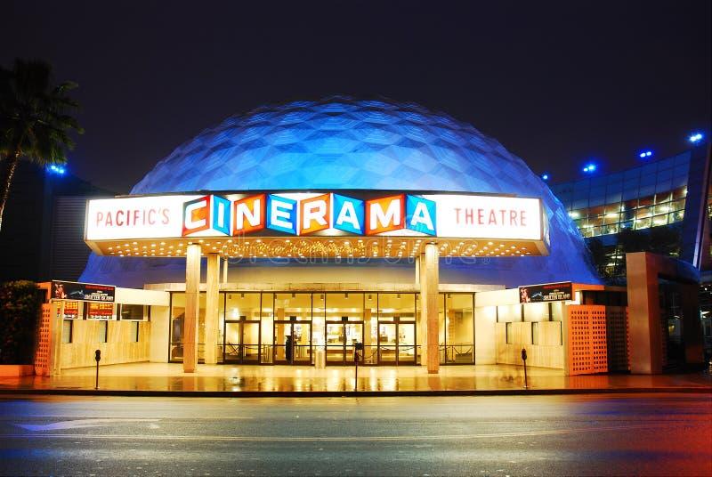 Cinerama, teatros pacíficos imagen de archivo libre de regalías