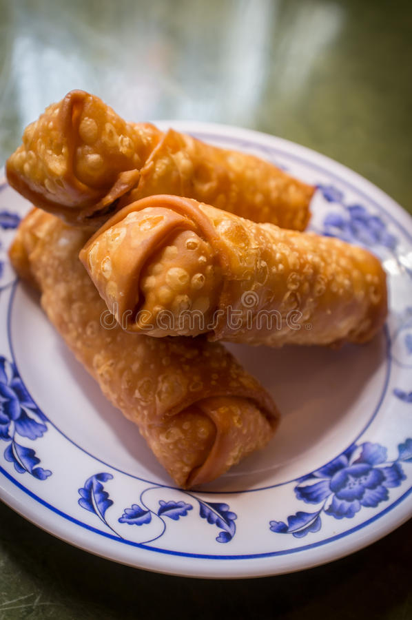 Cinese Fried Egg Rolls immagini stock