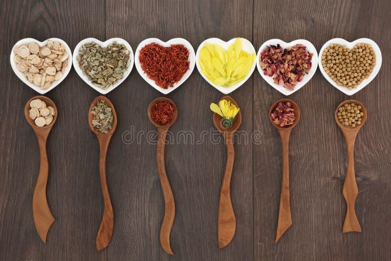 Cinese tradizionale Herb Tea Selection fotografia stock