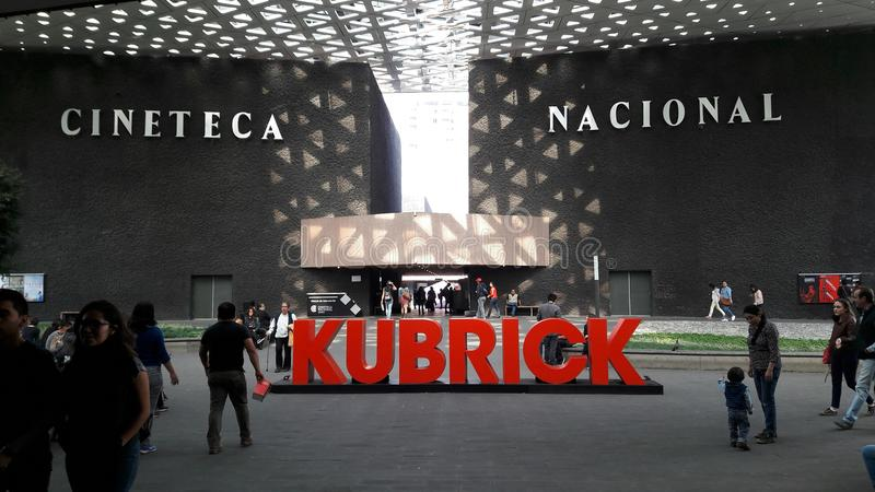 Cineteca Nacional som har en Stanley Kubrick Expo arkivfoto