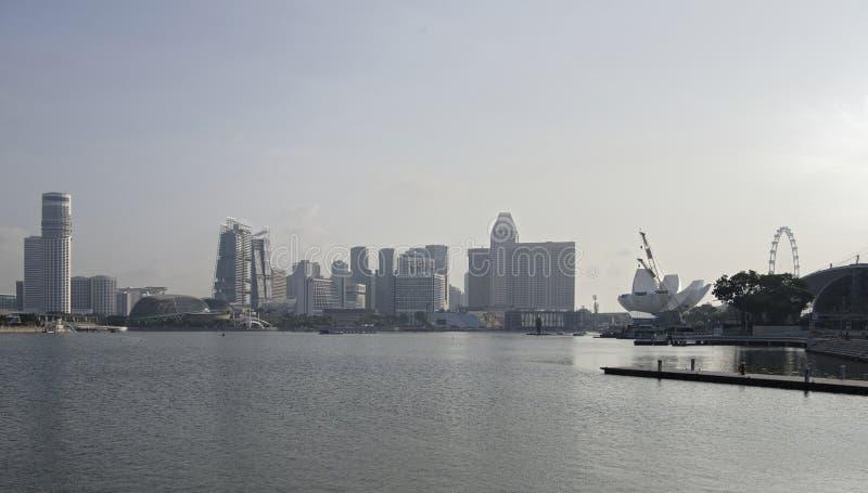 Cingapura Ideia de teatros da avenida e da esplanada das rifas imagens de stock