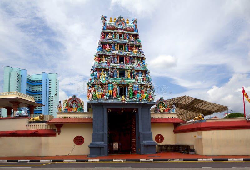 Cingapura Templo hindu Sri Mariamman foto de stock