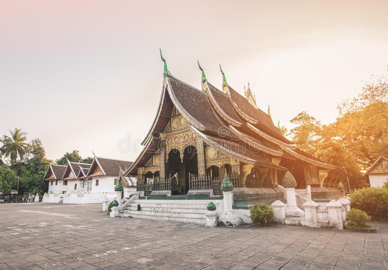 Cinghia di Wat Xieng in Luang Prabang fotografie stock libere da diritti