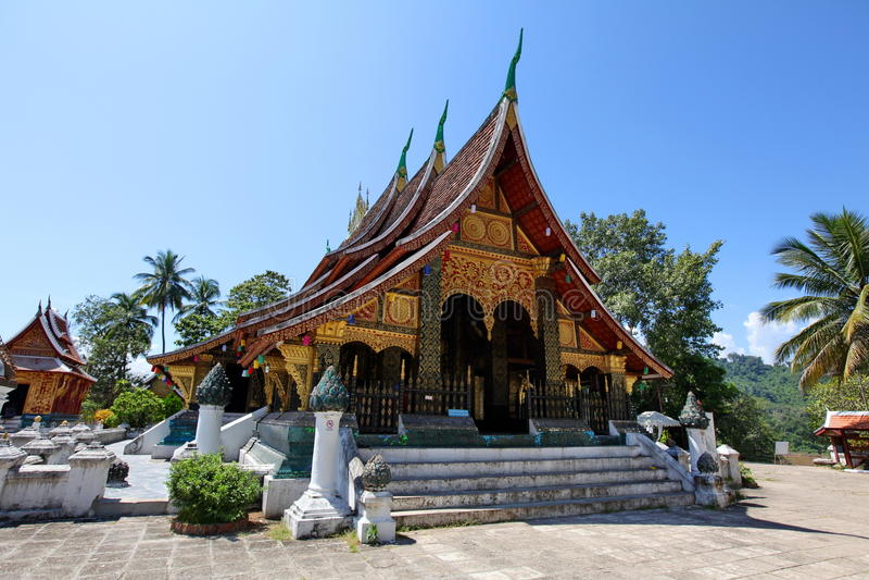 Cinghia di Wat Xieng in Luang Prabang immagine stock libera da diritti