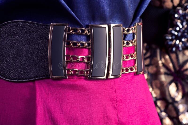 Cinghia e vestito su un manichino fotografia stock