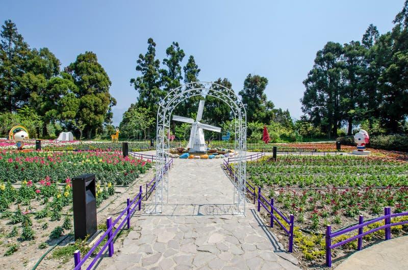 Cingjing liten schweizareträdgård i Nantou, Taiwan arkivbilder
