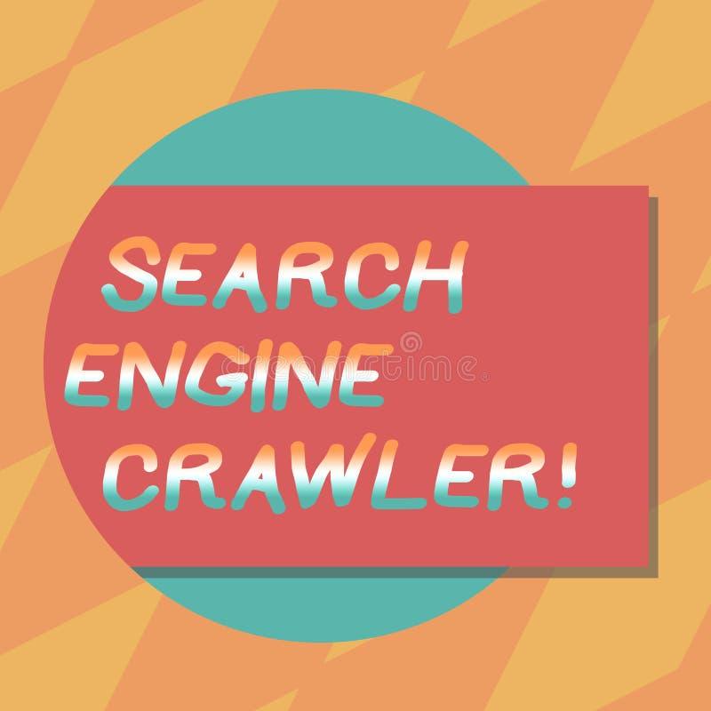Cingolo del motore di ricerca di rappresentazione del segno del testo Programma concettuale della foto o scritto automatizzato ch royalty illustrazione gratis