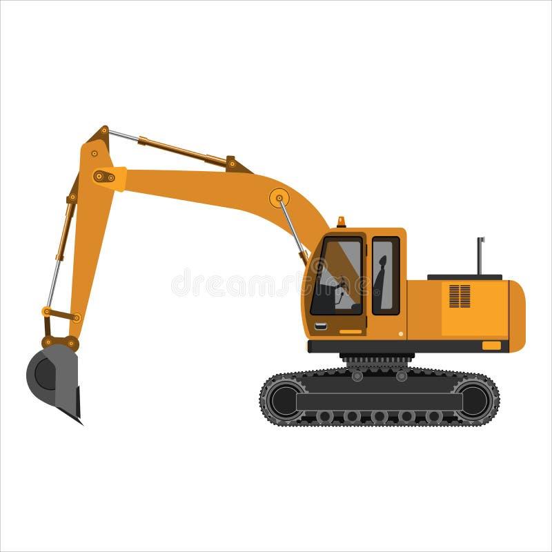 Cingolo potente dell'escavatore illustrazione di stock
