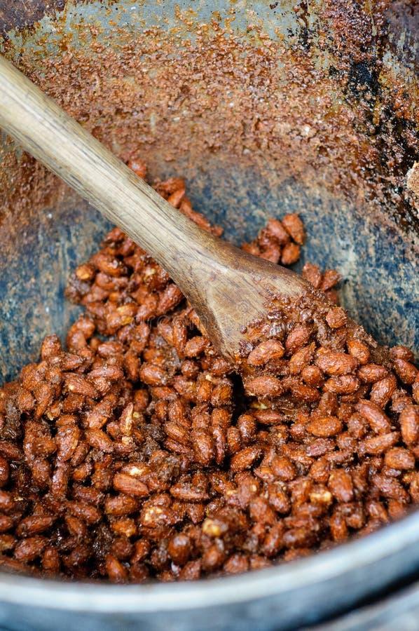 Download Cinnamon almonds stock image. Image of large, sugar, tasty - 27064863