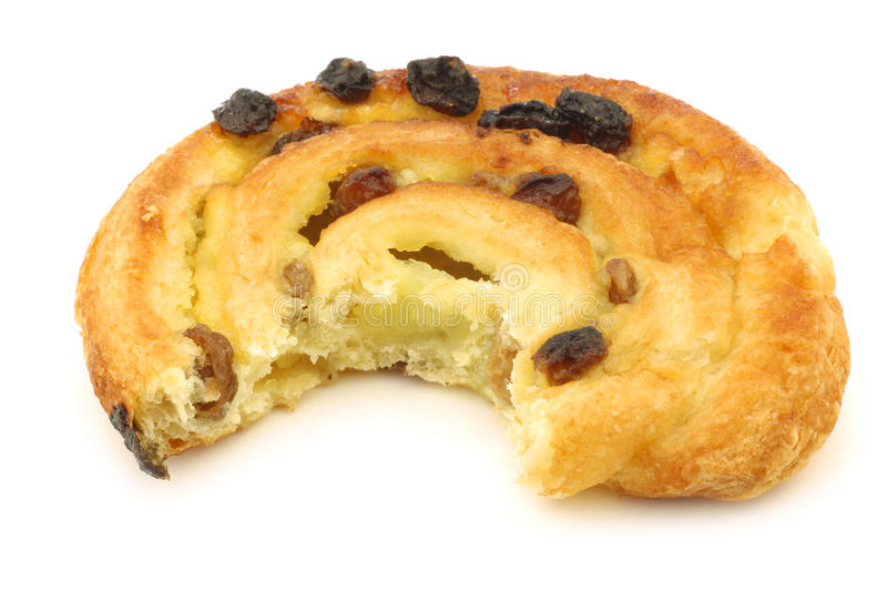 Cinnamon Apple Roll With A Bite Missing Stock Image