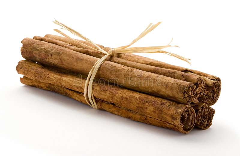 Cinnamon Bundle. Against a white background stock image