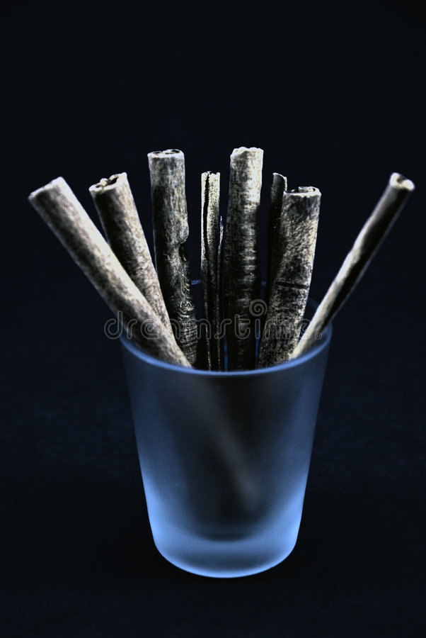Cinnamon Cigarrettes royalty free stock image