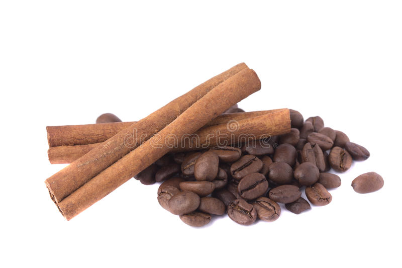 Cinnamon and coffee stock images