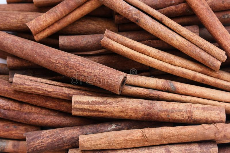 Cinnamon composition stock photos
