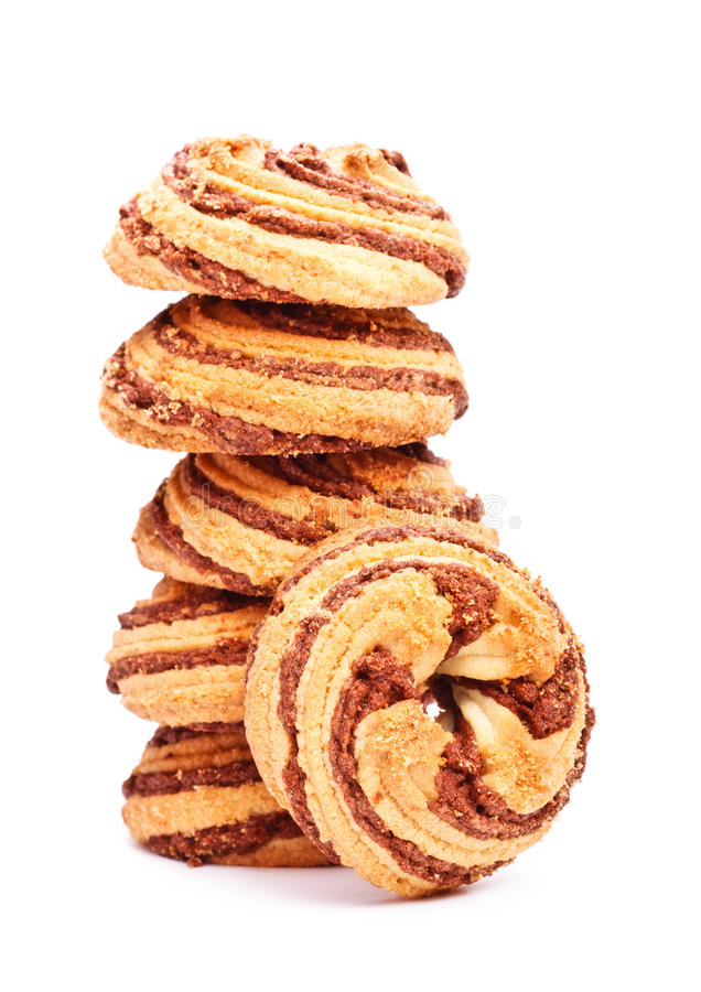 Cinnamon cookies tower royalty free stock photos