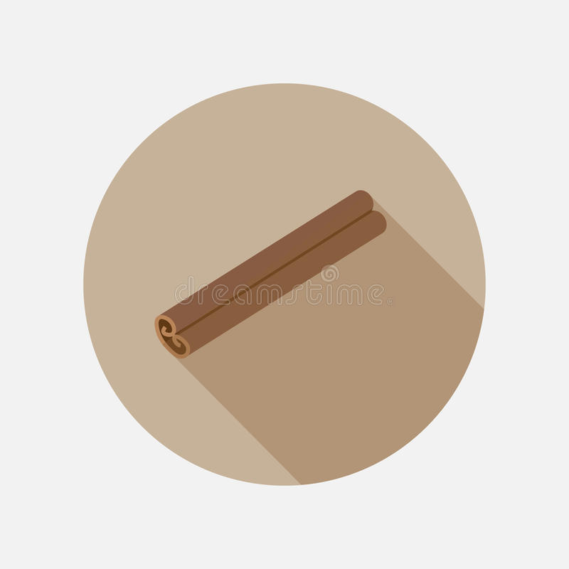 Free Cinnamon Flat Icon Royalty Free Stock Photography - 96741527