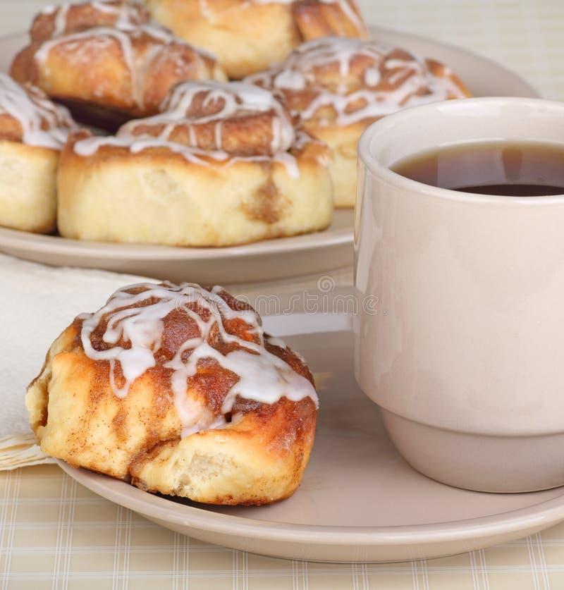 Cinnamon Roll Breakfast Stock Images