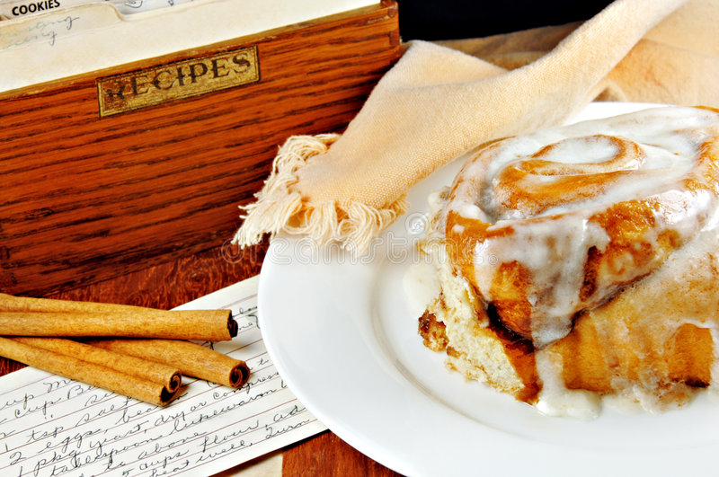 Download Cinnamon Roll with Recipe stock photo. Image of sugary - 5474530