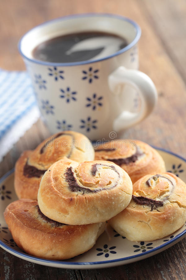 Download Cinnamon Rolls And Coffee Stock Photography - Image: 25033732