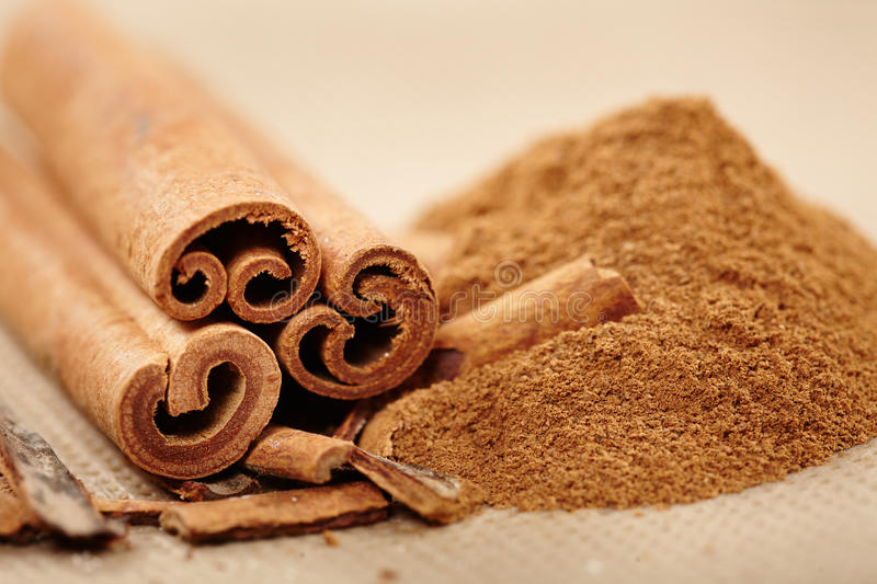 Download Cinnamon rolls and powder stock photo. Image of flavor - 37242860