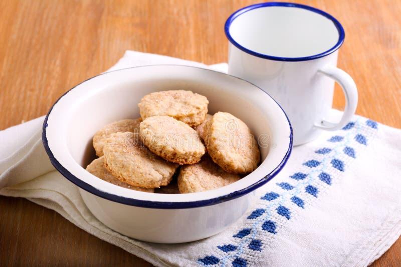 Cinnamon shortbread cookies royalty free stock photography