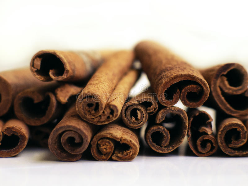 Cinnamon stack 2 royalty free stock photos