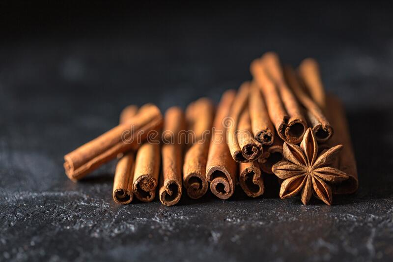 Cinnamon and star anise royalty free stock photos