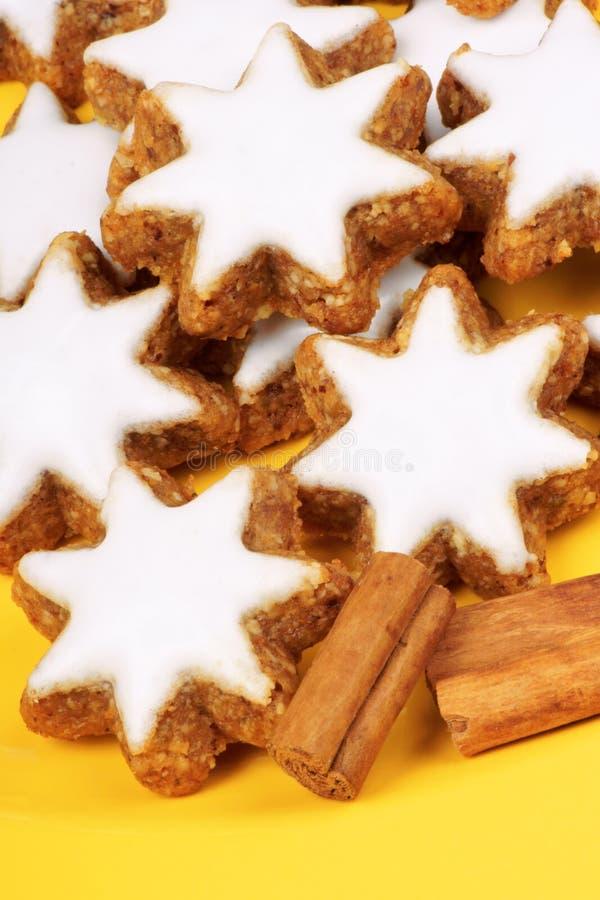 Download Cinnamon star cookies stock photo. Image of iced, sweet - 17904204