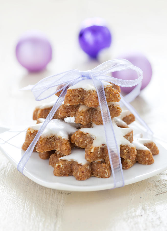 Download Cinnamon star cookies stock image. Image of piece, christmas - 21448161