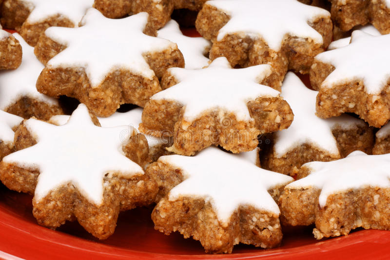 Cinnamon Star Cookies, Zimtsterne Stock Photos