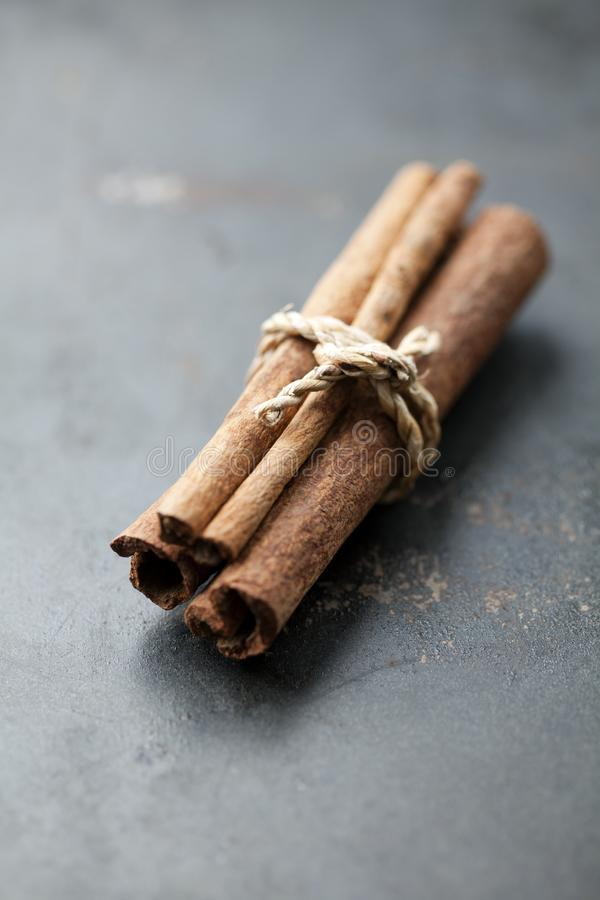 Cinnamon sticks in a bundle stock photography