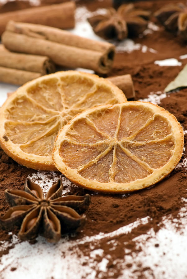 Download Cinnamon Sticks With Dried Fruits Stock Image - Image: 12460637