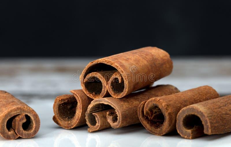 Cinnamon sticks macro royalty free stock photography
