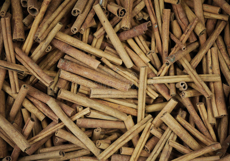 Cinnamon sticks pile royalty free stock photography