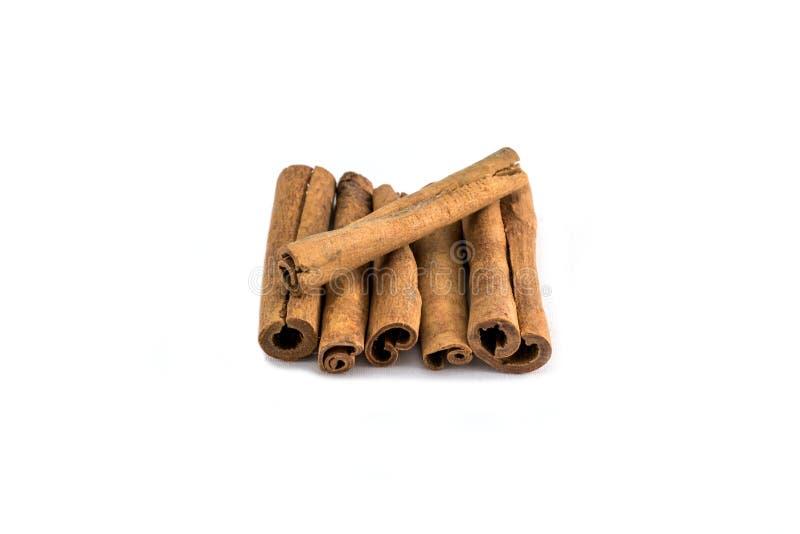 Cinnamon sticks with white backgorund stock photography
