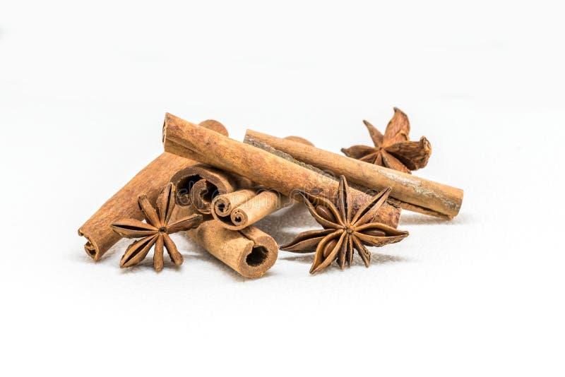 Cinnamon sticks with white backgorund stock image