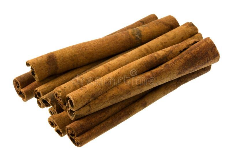 Cinnamon sticks on white background royalty free stock photos