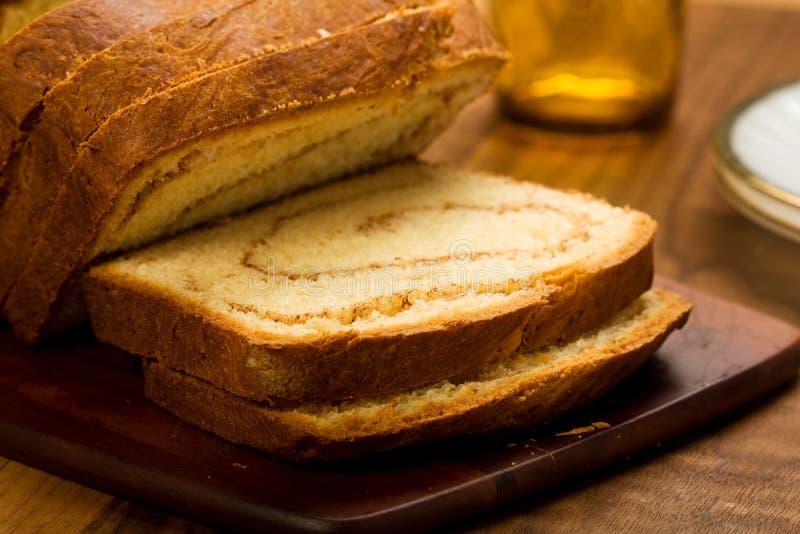Cinnamon swirl bread royalty free stock photo