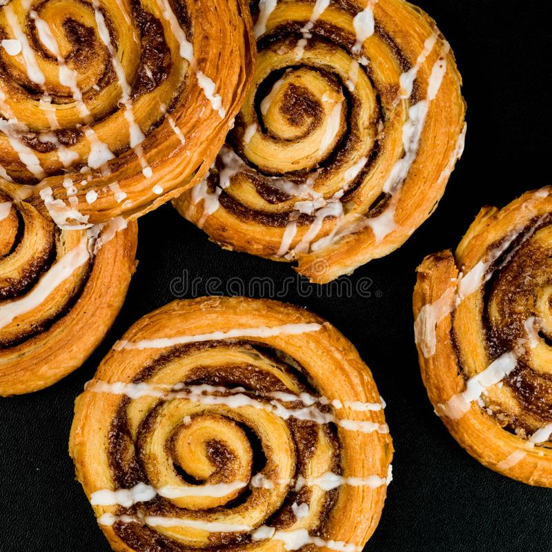Cinnamon Swirl French Style Pastries royalty free stock image