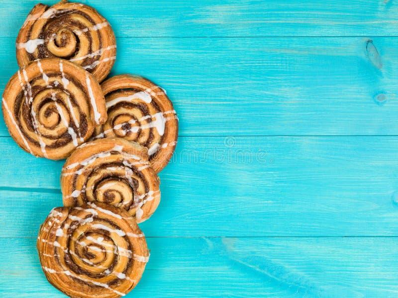 Cinnamon Swirls Danish Breakfast Pastries stock photos
