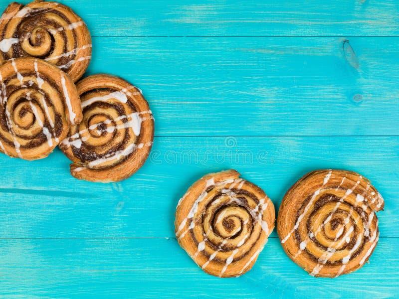 Cinnamon Swirls Danish Breakfast Pastries stock images