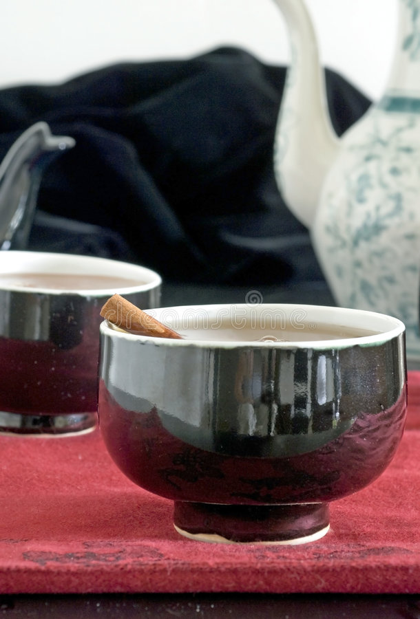 Download Cinnamon and tea stock image. Image of closeup, domestic - 7221201