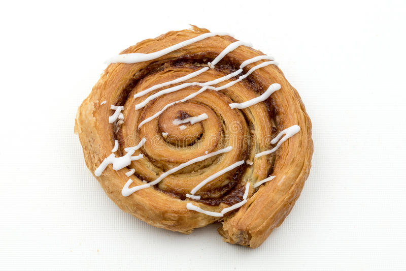 Cinnamon whirl. Isolated image of a Cinnamon Whirl pastry stock photo