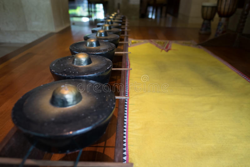 Cino gong tradizionale di Kadazan fotografia stock libera da diritti