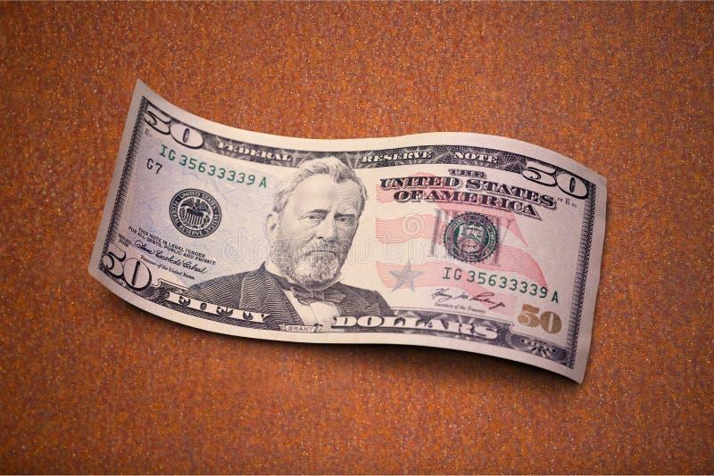 Cinqüênta dólares Bill foto de stock royalty free