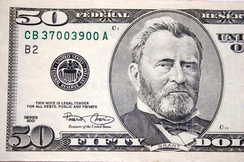 Cinqüênta dólares, Grant imagens de stock